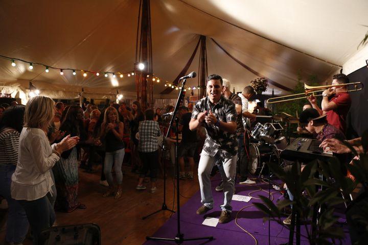 """Groupe """"Zafarruncho"""" sur scène  (Y. Petit)"""