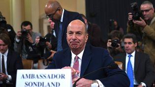 Gordon Sondland devant la commission du renseignement de la Chambre des représentants à Washington, le 20 novembre 2019. (ANDREW CABALLERO-REYNOLDS / AFP)