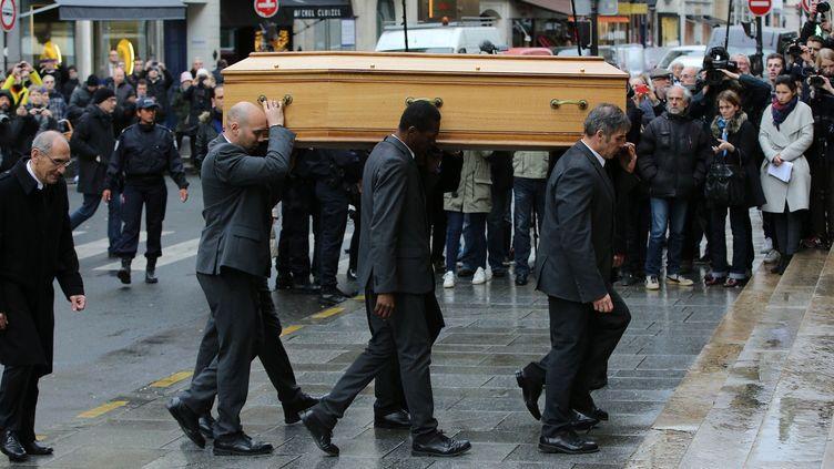 Les obsèques de Michel Galabru, le 12 janvier 201, en l'église Saint-Roch à Paris.  (LORENVU/SIPA)