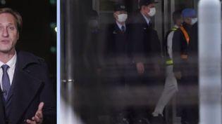 L'ancien PDG de Renault Nissan est sorti de la prison japonaise où il était incarcéré. Arnaud Miguet était sur place pour France 2. (France 2)