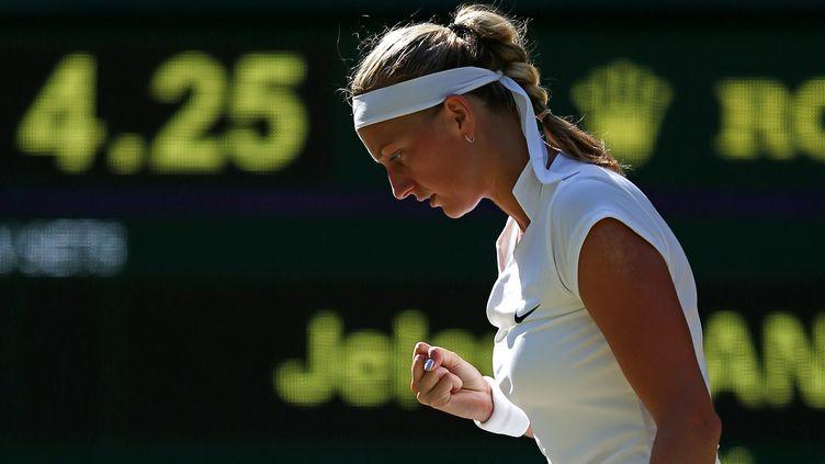 La détermination de Petra Kvitova (JUSTIN TALLIS / AFP)
