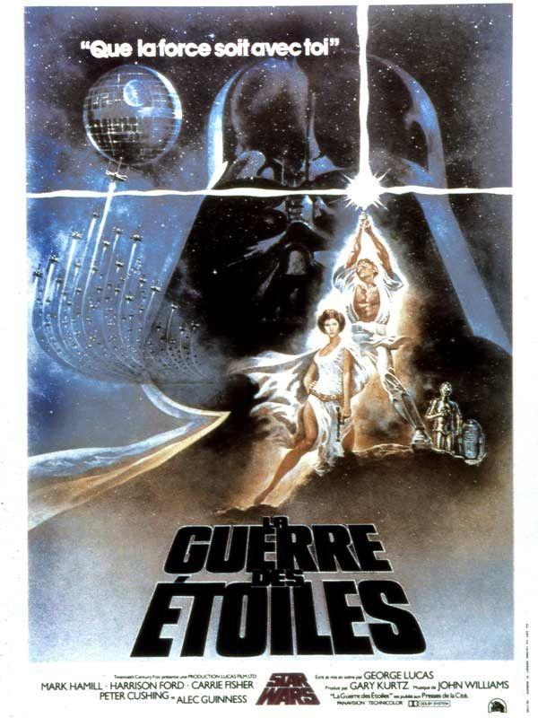 """L'affiche de """"La Guerre des étoile"""" de George Lucas en 1977. (TWENTIETH CENTURY FOX FRANCE)"""