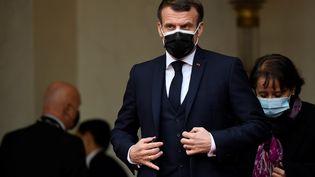 Emmanuel Macron, à Paris, le 7 décembre 2020. (BERTRAND GUAY / AFP)