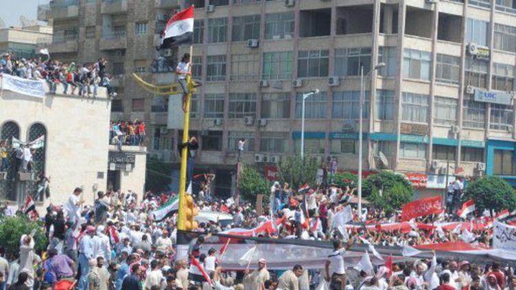 Manifestation à Hama le 22 Juillet 2011, (AFP PHOTO/STR)