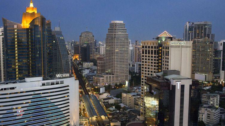 Vue des gratteciels de Bangkok, Thaïlande.  (SIPANY/SIPA)