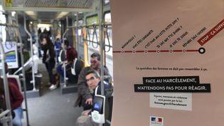 Une campagne contre le harcèlementdans les transports en commun avait eu lieu en novembre 2015 à Saint-Etienne (Loire). (MAXPPP)