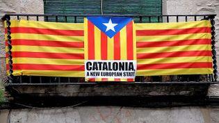Un drapeau indépendantiste catalan à Gérone (Espagne). (  MAXPPP)