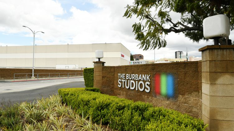 Les studios Burbank, à l'arrêt, à Los Angeles (8 avril 2020) (AMY SUSSMAN / GETTY IMAGES NORTH AMERICA / AFP)