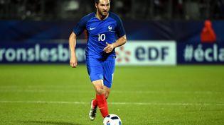 André-Pierre Gignac, sous le maillot de l'équipe de France lors de l'Euro 2016, va découvrir la sélection olympique aux JO de Tokyo. (MAXPPP)