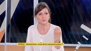 Céline Braconnier, politologue et directrice de Sciences Po Saint-Germain-en-Laye,sur franceinfo, le 18 juin 2021. (FRANCEINFO)
