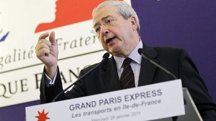 Le président de la région Ile-de-France Jean-Paul Huchon  (26 janvier 2011) (AFP/PATRICK KOVARIK)