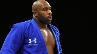 Le judoka français Teddy Riner, le 3 octobre 2020, lors d'un tournoi à Brest (Finistère). (PHILIPPE MILLEREAU / KMSP / AFP)