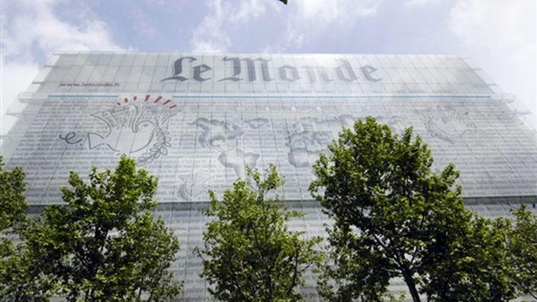 """La façade du """"Monde"""", boulevard Auguste Blanqui à Paris. (AFP)"""