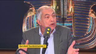 """Le journaliste et écrivain spécialiste de l'Égypte, invité du """"8h30 Fauvelle-Dély"""", le vendredi 22 mars 2019. (FRANCEINFO / RADIOFRANCE)"""