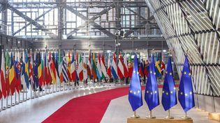 Lors d'une réunion du Conseil européen, le 22 mars 2019 à Bruxelles. (NICOLAS ECONOMOU / NURPHOTO / AFP)