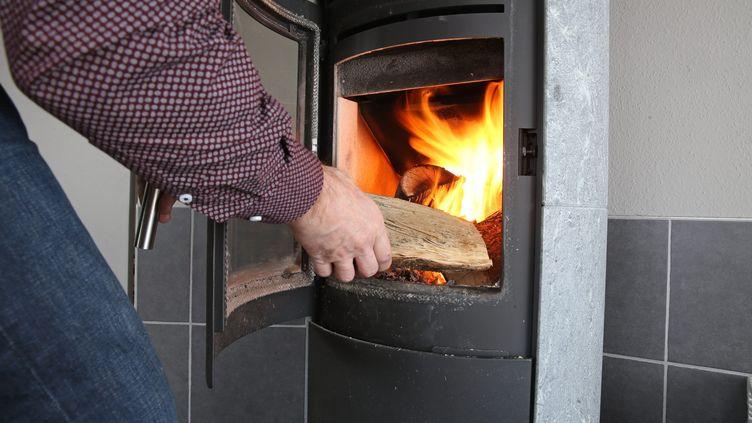 Un poêle à bois domestique (image di'llustration) (JEAN-MARC LOOS / MAXPPP)
