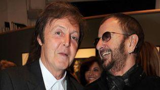 Paul McCartney et Ringo Starr en octobre 2010 à Londres  (Richard Young / Rex Features / REX / SIPA)