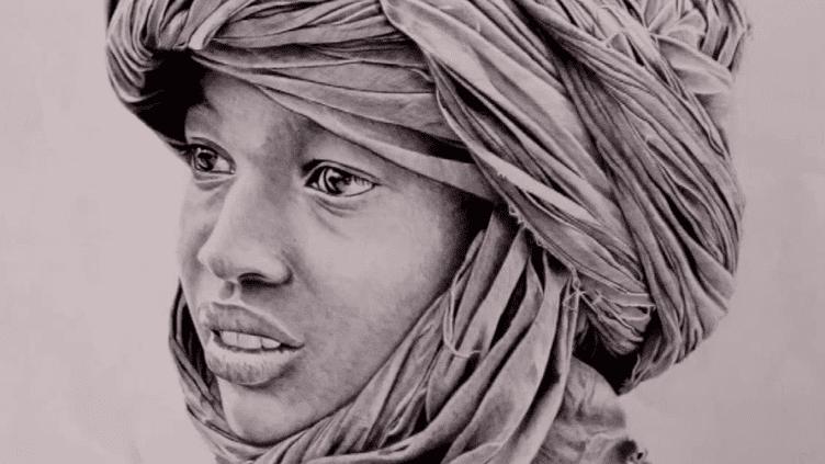 Portrait d'un enfant afghan réalisé au stylo à bille par le dessinateur Christophe Corbillon  (Culturebox / Capture d'écran)