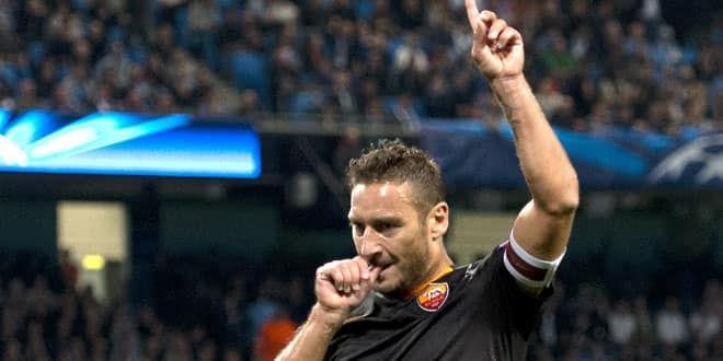 Le joueur emblématique de la Roma, Francesco Totti