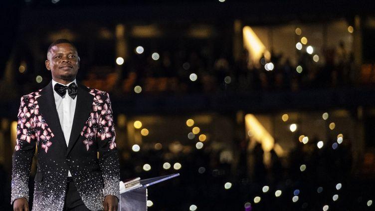 Shepherd Bushiri lors d'une prière commune le 1er janvier 2020 à Soweto, en Afrique du Sud. (WIKUS DE WET / AFP)