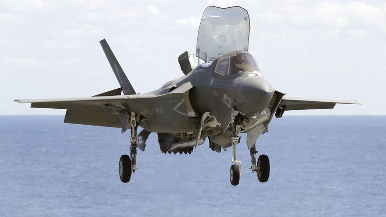 Le futur avion de combat nouvelle génération sera une alternative au F-35 américain (ici un F-35B au décollage, le 23 mars 2018). (MAXPPP)