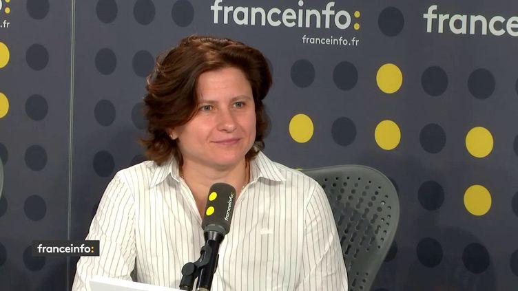 La ministre des Sports, Roxana Maracineanu, le 8 juillet 2019. (RADIO FRANCE / FRANCEINFO)