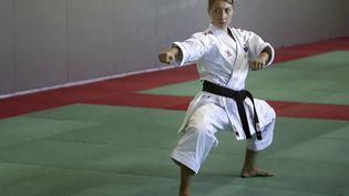Alexandra Feracci, lors d'un entraînement à Ajaccio, le 9 juin 2021. (PASCAL POCHARD-CASABIANCA / AFP)