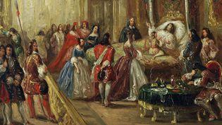 La mort de Louis XIV au palais de Versailles par Thomas Jones Henry Barker (1815-1882)  (DR)