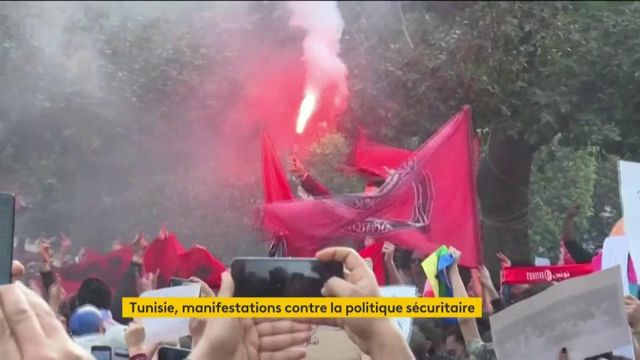 Tunisie : des manifestants dénoncent la politique sécuritaire