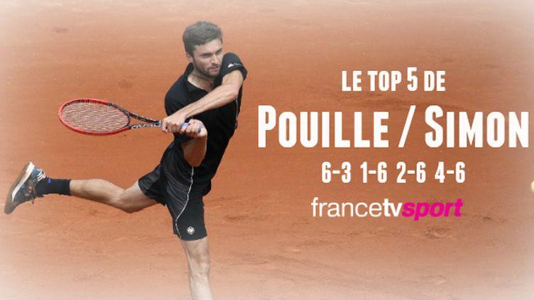 Gilles Simon a battu Lucas Pouille en quatre sets.