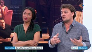 Sarah Martins et Thierry Godard (FRANCE 3)