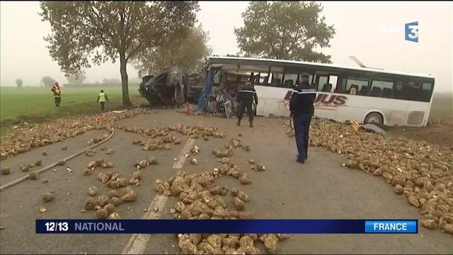 Pas-de-Calais : un mort dans un accident entre un car scolaire et un camion