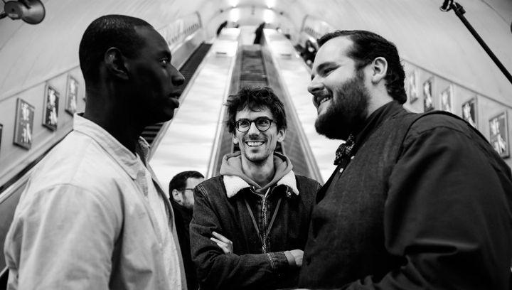 Omar Sy, Hugo Gélin et Antoine Bertrand  (Julien Panié / Vendôme - Mars)