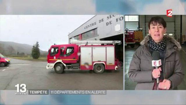 Tempête : 11 départements en alerte