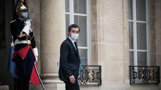 Le ministre de l'Intérieur Gérald Darmanin à la sortie du Conseil des ministres mercredi 25 novembre 2020 à Paris. (ARTHUR NICHOLAS ORCHARD / HANS LUCAS / AFP)