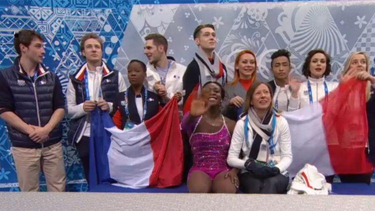 L'équipe de France de patinage artistique