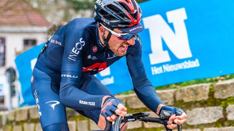 Gianni Moscon, vainqueur de la première étape du Tour des Alpes.  (MATTEO COGLIATI / HANS LUCAS)