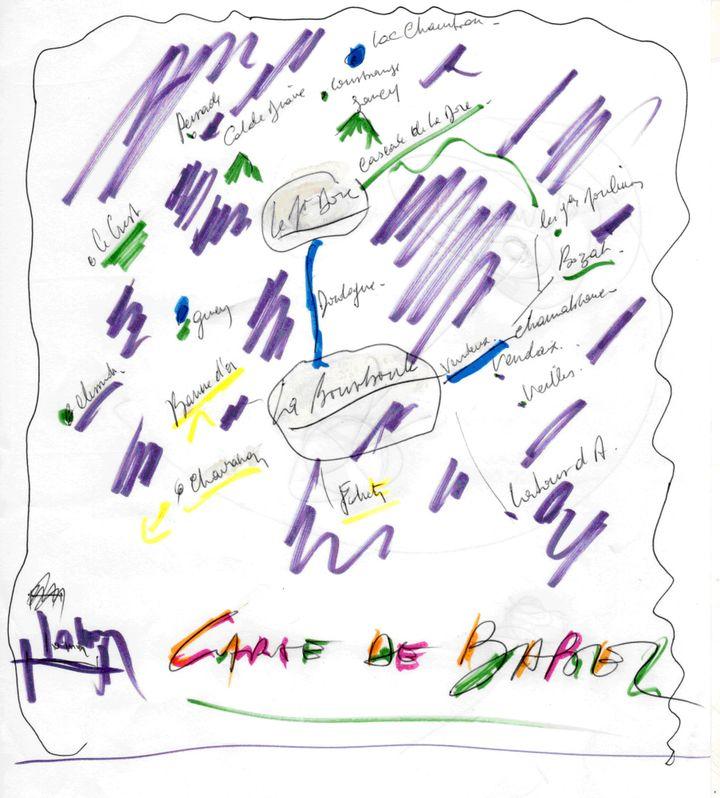 "La carte du ""Babel"" de Jean-Louis Murat  (Jean-Louis Murat / PIAS)"