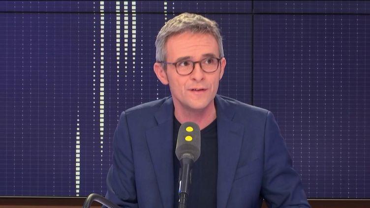 Stéphane Troussel, le président du Conseil départemental de la Seine-Saint-Denis, invité de franceinfo le 3 novembre 2018. (FRANCEINFO / RADIOFRANCE)