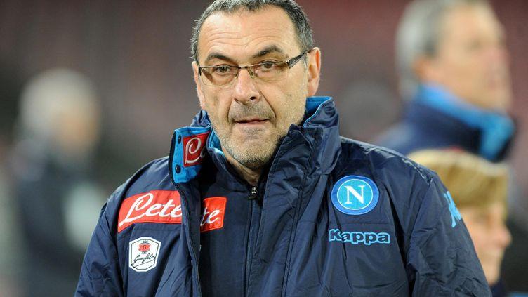 L'entraîneur de Naples, Maurizio Sarri (FRANCO ROMANO / NURPHOTO)