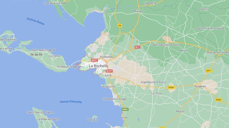 Capture depuis Google maps de ville de La Rochelle (Charente-Maritime) et de ses alentours. (GOOGLE MAPS)