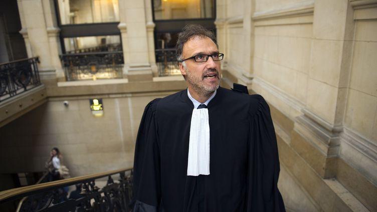 Rodolphe Bosselut, l'avocat de Marine LePen. (LIONEL BONAVENTURE / AFP)