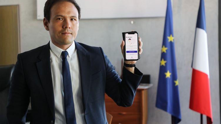 Le Secrétaire d'Etat au Numérique, Cédric O, le 28 mai 2020 à Paris. (LUDOVIC MARIN / AFP)