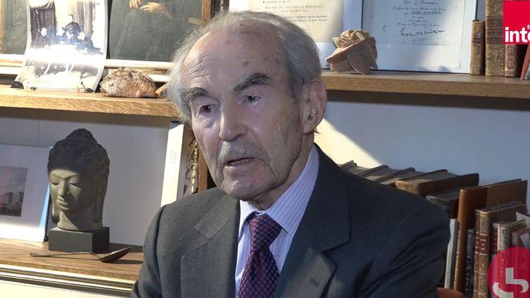 L'ancien garde des Sceaux, Robert Badinter, le 21 octobre sur France Inter. (FRANCEINTER / RADIOFRANCE)