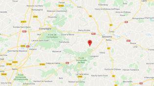 La commune deSaint-Pierre-Aigle dans l'Aisne. (GOOGLE MAPS / FRANCETV INFO)