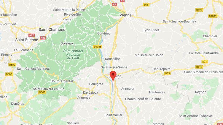 La commune deSaint-Rambert d'Albon dans la Drôme. (GOOGLE MAPS / FRANCETV INFO)
