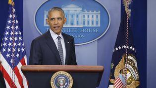 Barack Obama lors d'une conférence de presse, le 14 novembre 2016, à Washington (Etats-Unis). (JONATHAN ERNST / REUTERS)