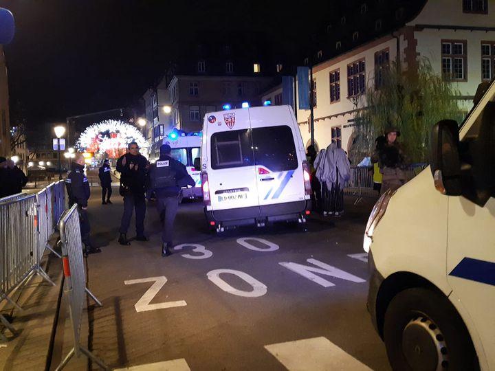 Une fusillade s'est produite ce mardi soir dans les rues de Strasbourg. La police demande à la population de ne pas sortir. (LUCILE GUILLOTIN / FRANCE-BLEU ALSACE (+ FB ELSASS))