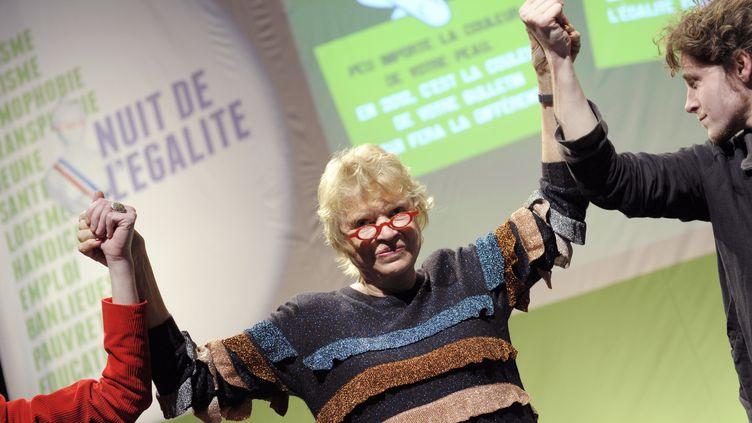 Eva Joly au Bataclan à Paris, le 11 janvier 2012. (BERTRAND GUAY / AFP)