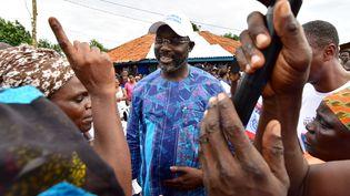 George Wah lors de sa campagne présidentielle à Monrovia (Liberia), le 8 octobre 2017. (ISSOUF SANOGO / AFP)